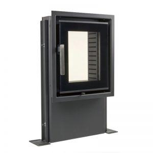 Dupla üveggem és külső levegő bevezetéssel ellátott kályhaajtók